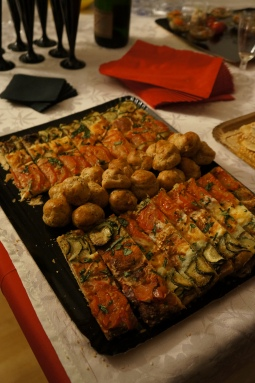 Choux pavot foie gras et tarte italienne