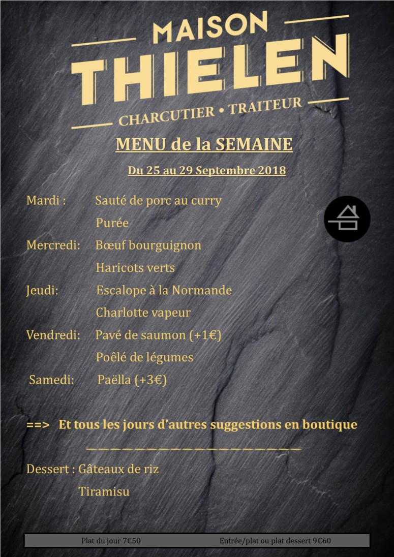 menu de la semaine 3